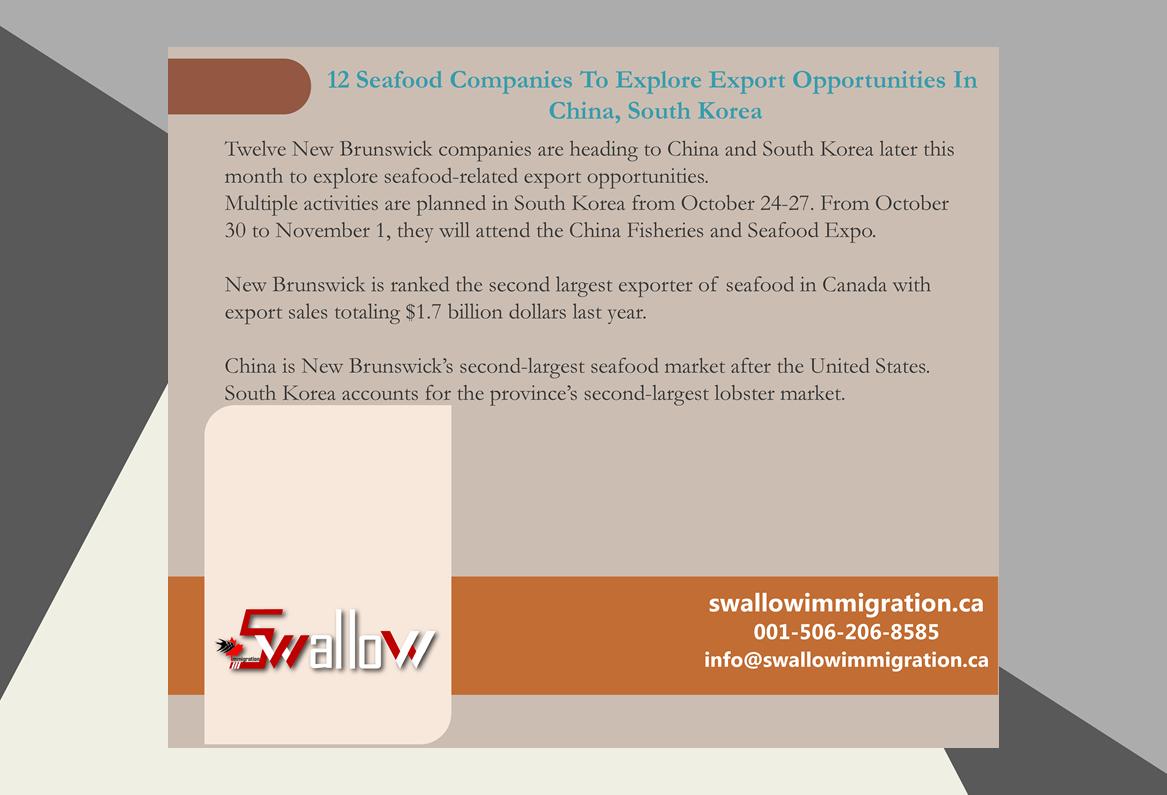 Twelve New Brunswick companies