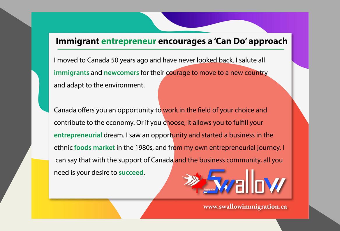 Immigrant entrepreneur Approach