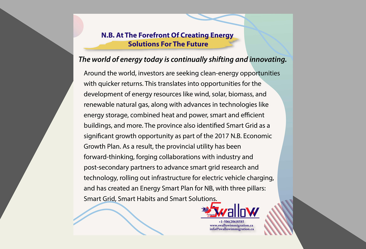 N.B. At The Forefront Of Creating Energy en