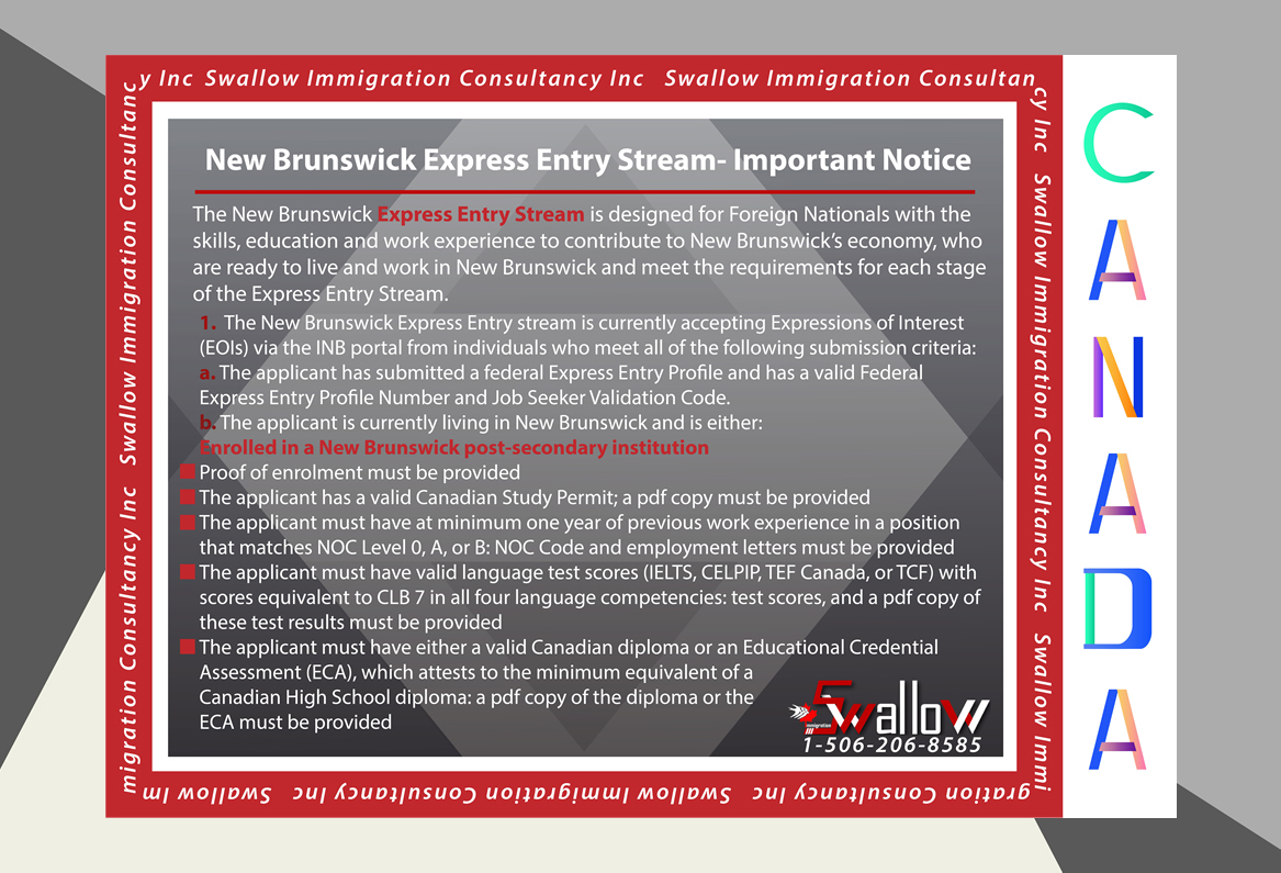 New Brunswick Express Entry Stream- Important Notice