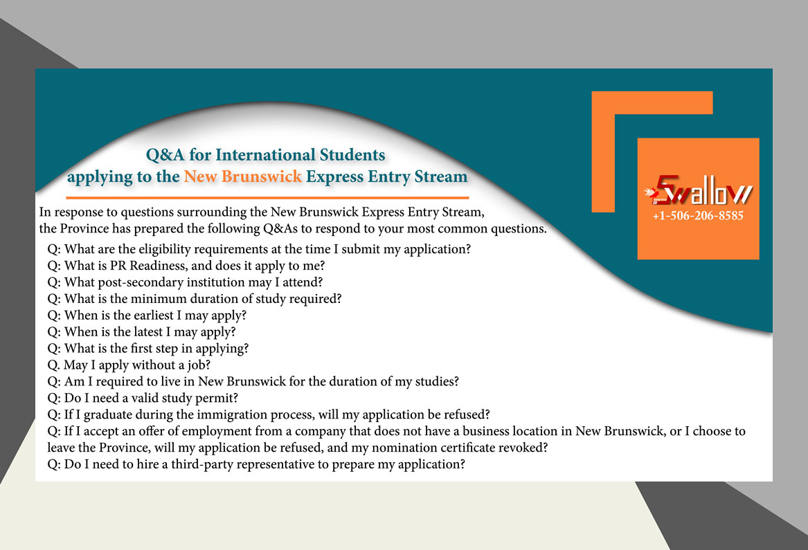 Q&A for International Students applying to the New Brunswick Express Entry Stream
