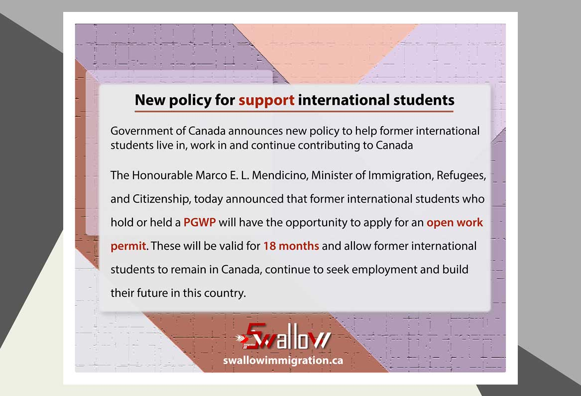 New policy for support international students