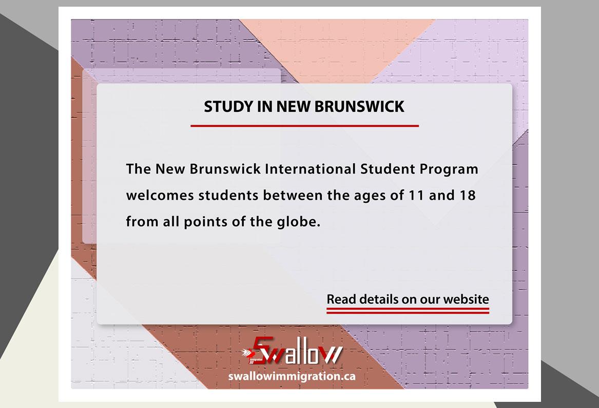 STUDY IN NEW BRUNSWICK