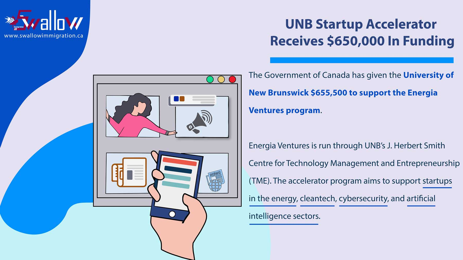 UNB Startup Accelerator Receives $650,000 In Funding