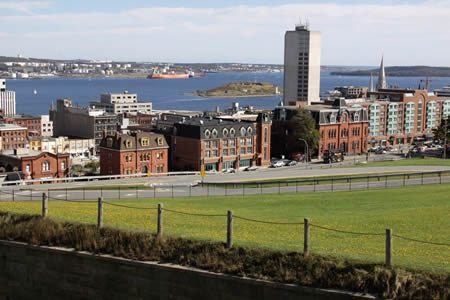 Halifax harbor from the Citadel